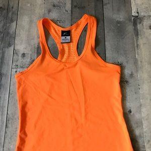 Nike Dri-Fit Racerback Orange Tank Top - 694